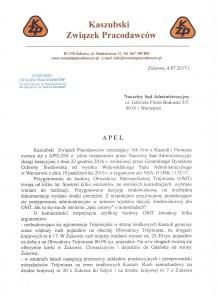 Apel do Naczelnego Sądu Administracyjnego s.1