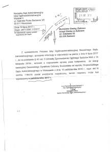 Pismo - odp. NSA - Burmistrz Gm. Żukowo