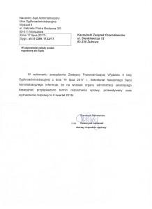 Pismo - odp. Naczelny Sąd Aministracyjny