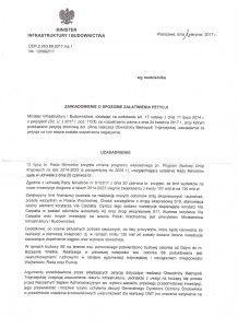 Odp. Ministra Infrastruktury i Budownictwa s.1