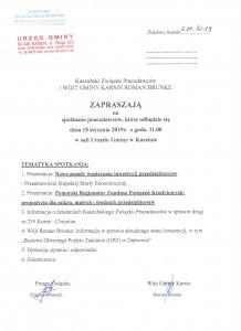 zaproszenie Karsin